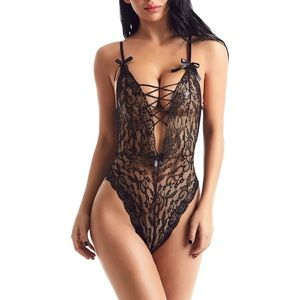 Other - Sexy Plus Size Lace One Piece Bodysuit Lingerie